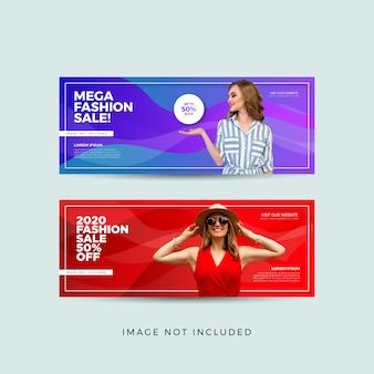 Banner de promoção de moda