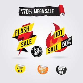 Banner de promoção de venda em flash