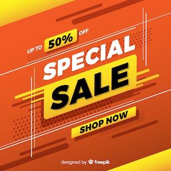Banner de promoção de venda especial abstrata