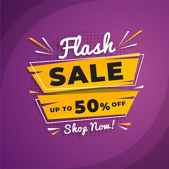 Banner de promoção de venda flash abstrata
