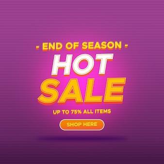 Banner de promoção de venda quente gradiente