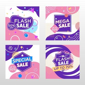 Banner de promoção de vendas