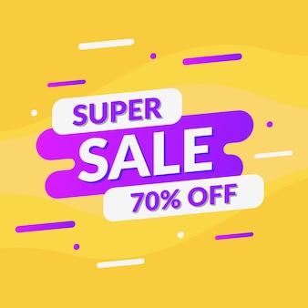 Banner de promoção super venda abstrata