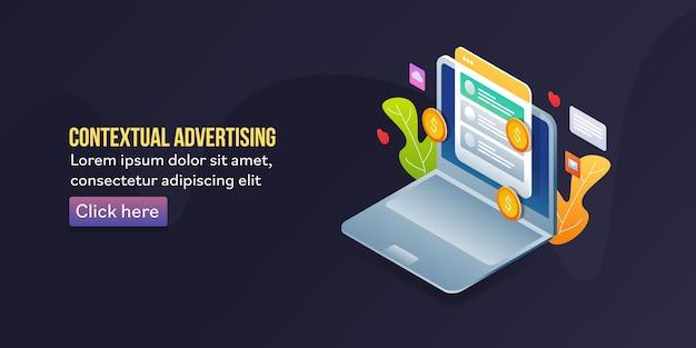 Banner de publicidade contextual