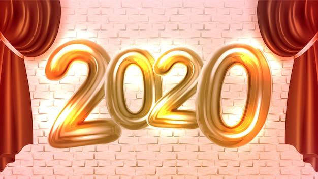 Banner de publicidade de concertos de ano novo de 2020