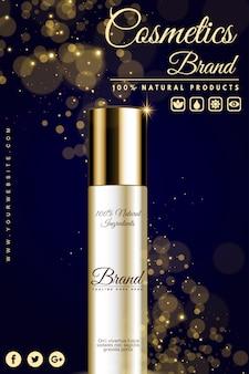 Banner de publicidade de cosméticos de luxo