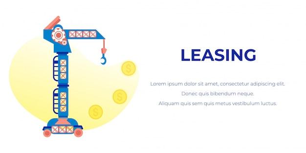 Banner de publicidade de leasing com texto editável