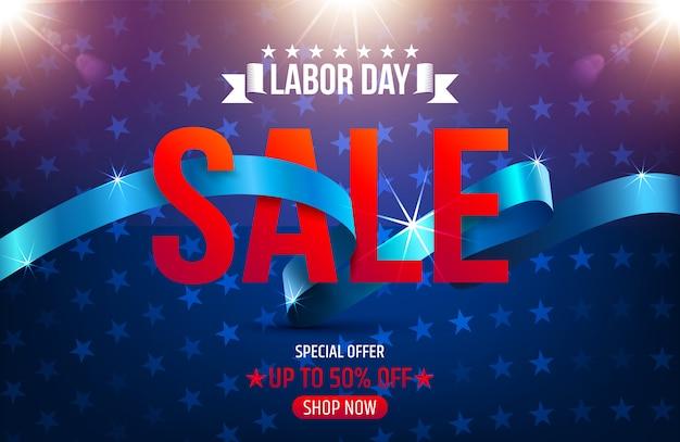 Banner de publicidade de promoção de venda do dia do trabalho