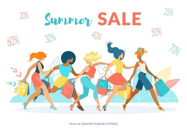 Banner de publicidade inscrição venda verão plana