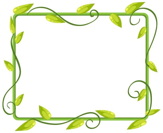 Banner de quadro de folhas e plantas simples