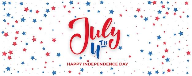 Banner de quatro de julho. dia da independência dos eua