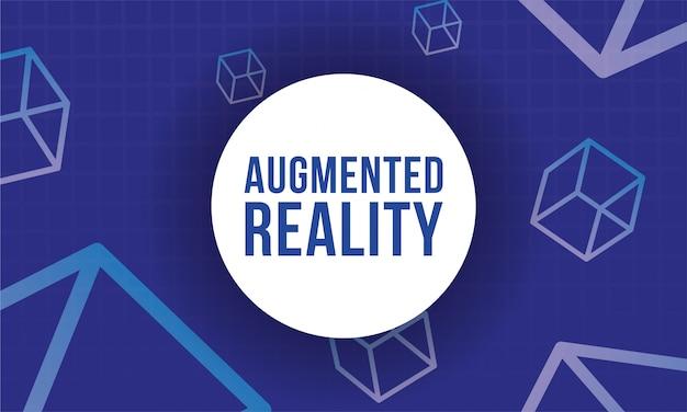 Banner de realidade aumentada com cubos
