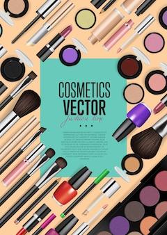 Banner de realismo de maquiagem moda profissional