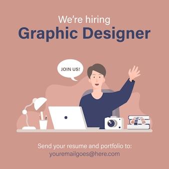 Banner de recrutamento de designer gráfico