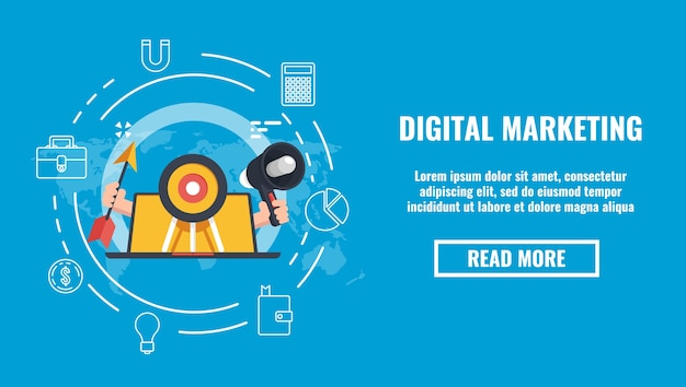 Banner de relações públicas, marketing de promoção na internet