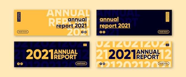 Banner de relatório anual