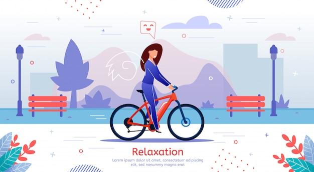 Banner de relaxamento e recreação ao ar livre