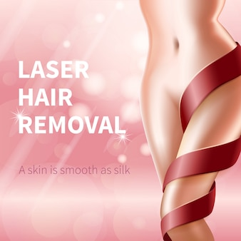 Banner de remoção de laser de cabelo
