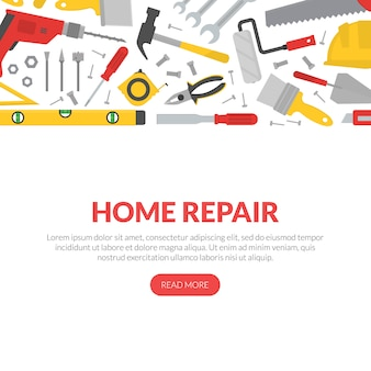 Banner de renovação em casa