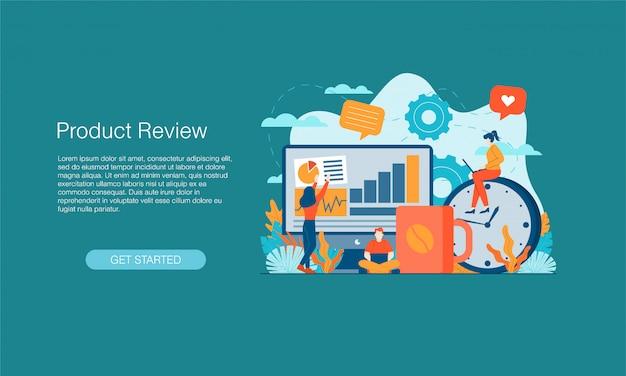 Banner de revisão do produto
