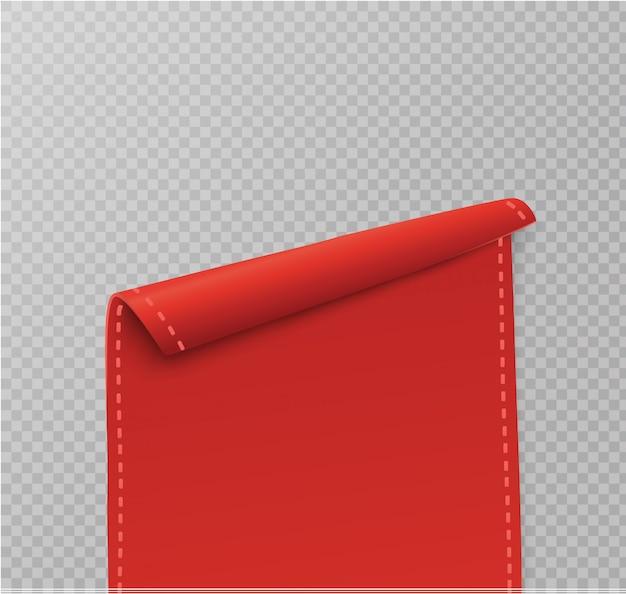 Banner de rolagem vermelho