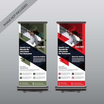 Banner de roll-up de saúde médica