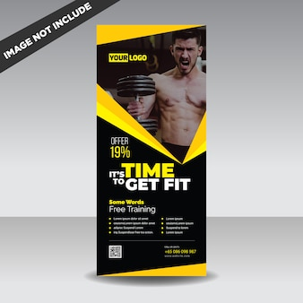 Banner de roll up fitness criativo