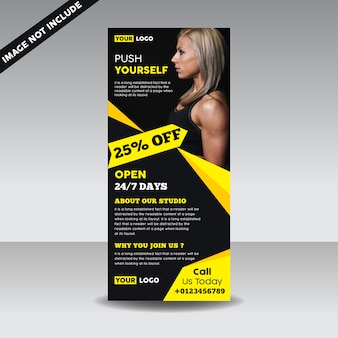 Banner de roll up fitness