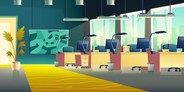 Banner de salão de escritório de coworking