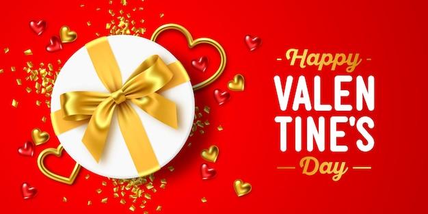 Banner de saudação de feriado feliz dia dos namorados