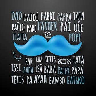 Banner de saudação feliz dia dos pais