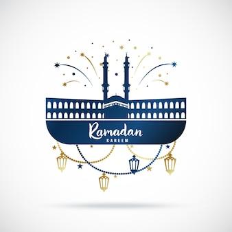 Banner de saudação para feriado sagrado islâmico ramadan kareem