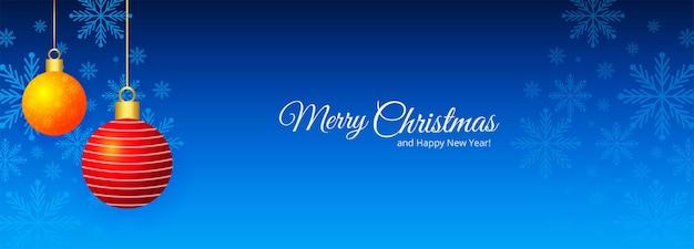 Banner de saudações de natal e ano novo