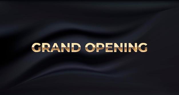 Banner de seda de luxo de inauguração
