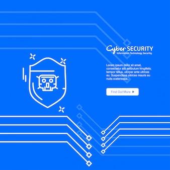 Banner de segurança cibernética