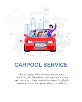 Banner de serviço de carpool.