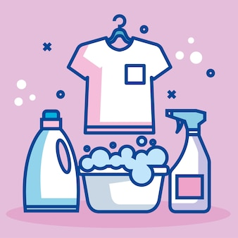 Banner de serviço de lavanderia