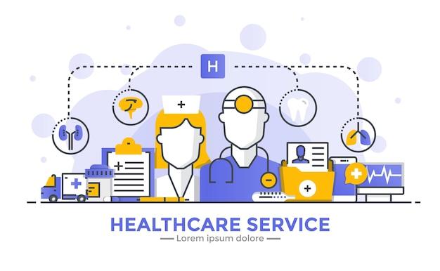 Banner de serviço de saúde