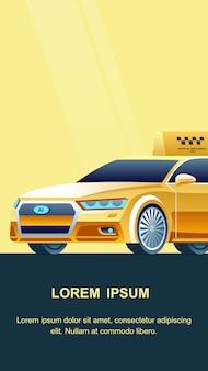 Banner de serviço de táxi on-line