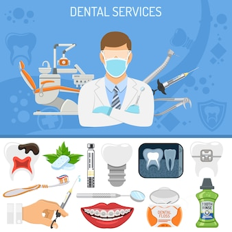 Banner de serviços odontológicos