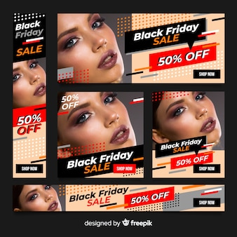 Banner de sexta-feira negra combinado