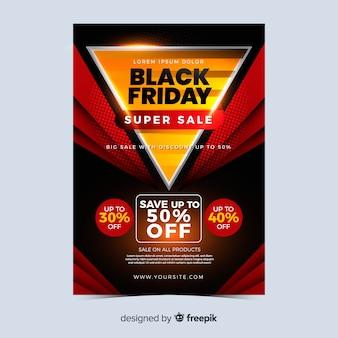 Banner de sexta-feira negra de grande venda