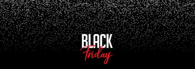 Banner de sexta-feira preta com brilhos caindo