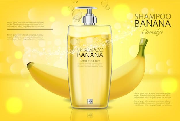 Banner de shampoo de banana