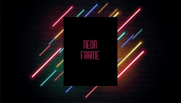 Banner de sinalização de néon do clube