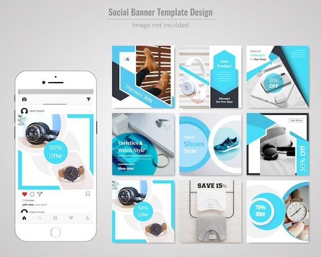 Banner de site social de desconto de venda de produto