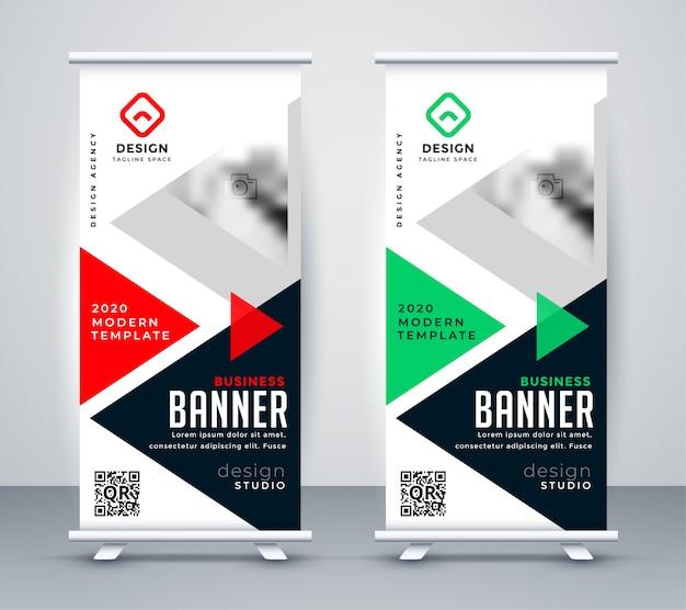 Banner de stand-up de rollup de negócios criativos