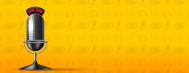 Banner de stream de rádio da manhã no ar