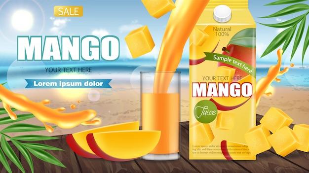 Banner de suco de manga