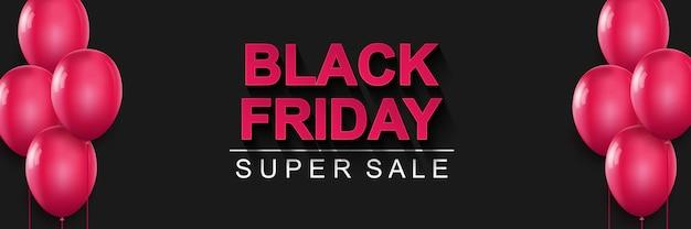 Banner de super venda da black friday cartaz de promoção de preços com desconto de grande venda sazonal